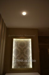 Wall panel from crystal beads