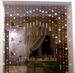 Arch from beads for kitchen