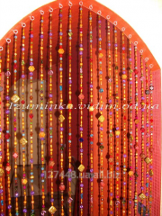 Curtain from beads for hookah