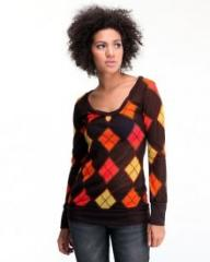 Bright raglan Fashionable rhombuses