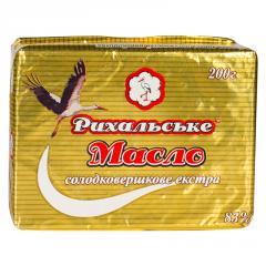 Sweet cream butter of Rykhalskoye of 83% 200 g