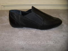 Jazz shoes without laces leather. Jazz shoes