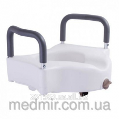High toilet seat with the fixer and demountable