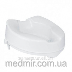 Toilet seat with the fixer TESEO of 10 cm