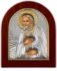 Icon silver with gilding Saint Seraphim of Sarov