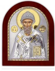 Icon silver with gilding Saint Spiridon on a