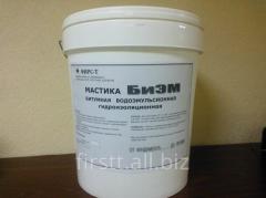Mastic bituminous BM with addition of TU U butyl
