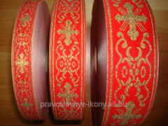 Laces Greek metallized for tailoring of vestments