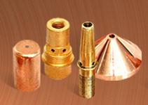 Токопроводящие наконечники для полуавтоматов (М6, М8, М10) под проволоку любого диаметра.