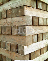 Timber: edged board, bar, rail, beam wooden in