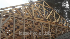 Rafters from wood, we offer the wood on roof in