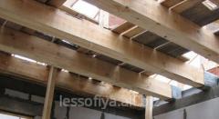 Rafters, bar, the wood on roof in Nikolaev
