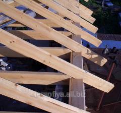 Mauerlat, rafters, a bar wooden in Nikolaev