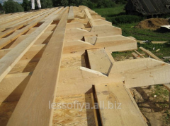 Rafter beams wooden. We offer the wood cut on a