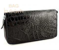 Ручная сумочка (клатч) из кожи крокодила (N MHB 15 Bl)