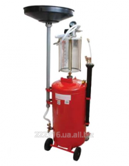 Installation vacuum for discharge of oil with a