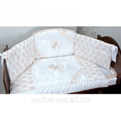 Set of children's bed linen with Ruggeri lace