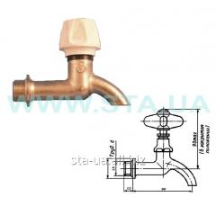Crane KV, brass for watering of 15 mm, / d VRK