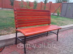 Benches and benches with a metal framework park