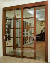 Wooden partitions with sliding system