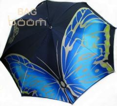 Женский зонт DOPPLER (артикул 12021 синяя бабочка)