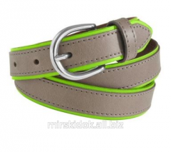 Leather Heine belt of a fashionable coloring
