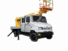 The car lift telescopic AP-15-02 (7 places) on the