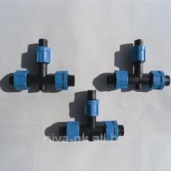 Фитинг стартер для капельной ленты c уплотнительной резинкой SL-001