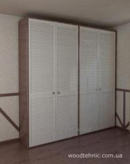 Wooden louvered doors for wardrobes