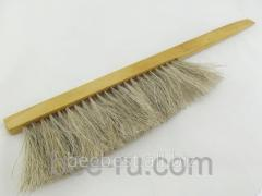 Profi brush wit - two-row, natural pile, a tree
