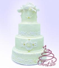 Family Monogram wedding cake