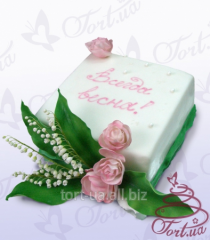 """Cake to order """"Lilies of the valley"""