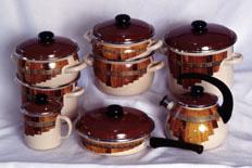 Ware steel enameled (set 3)