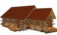 House of wild log,  2 Etagen von 59 m2 - 115...