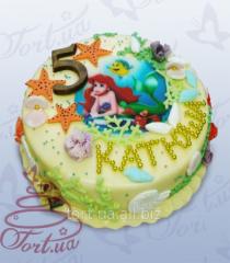 Children's Little Mermaid photocake