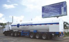 Tank semi-trailers for the liquefied gases. The
