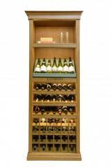 Шкаф винный деревянный с LED  подсветкой. Модель Piemonte. Артикул PM 2.