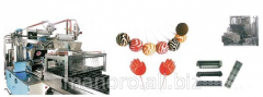 Line of production of lollipops and caramel