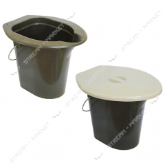 Bucket for street toilets (dry closet) of