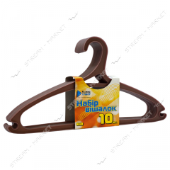 Set of hangers for clothes of plasticity of 10