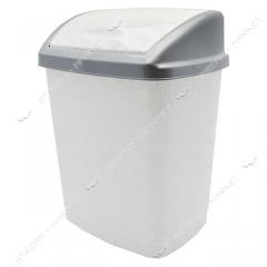 Bucket plastic envelope of 9 l. (white marble)