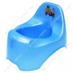 Pot plastic (children's) duck (blue)