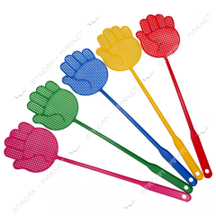 Fly swatter of plasticity color (in the form of a