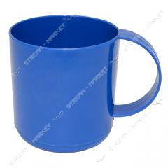 The mug is plastic color