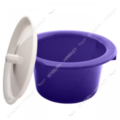 Pot plastic (children's) with a cover