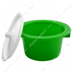 Pot plastic (children's) with a cover (lime)