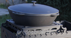 Support under a cauldron for a brazier