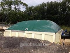 Гибкий газгольдер для биогазовых установок 60м3