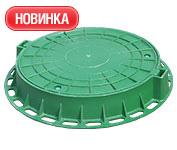 Люк ревизионный пластиковый тип Л,  зеленый