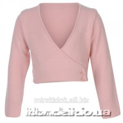 Bolero for gymnastics a wool mixture pink 3-4, 4-5